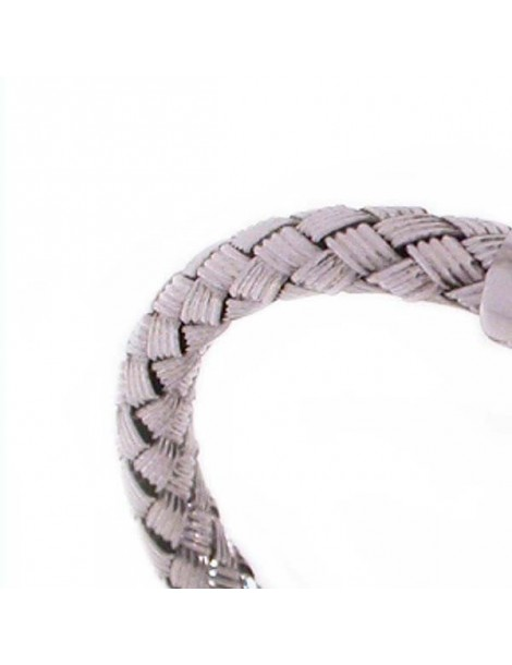 Bracelet silver intertwined blades