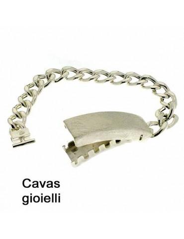 Classico bracciale argento con centrale