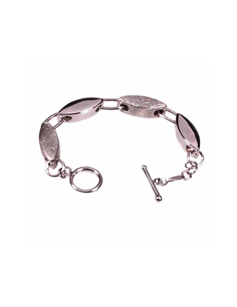 Bracciale argento con elementi ovali