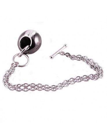 Bracciale argento 925 con pendente a goccia