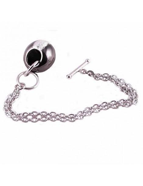 Bracciale argento con pendente diamantato PA227B