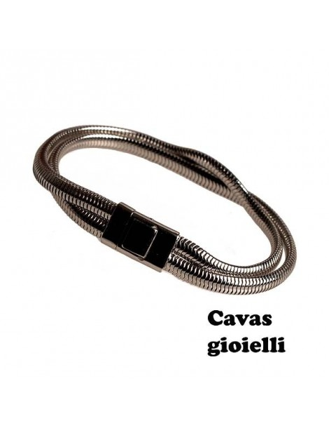 Catena  a maglie ovali per questo bracciale d'argento