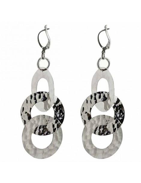 Orecchini a 3 cerchi  pendenti in argento