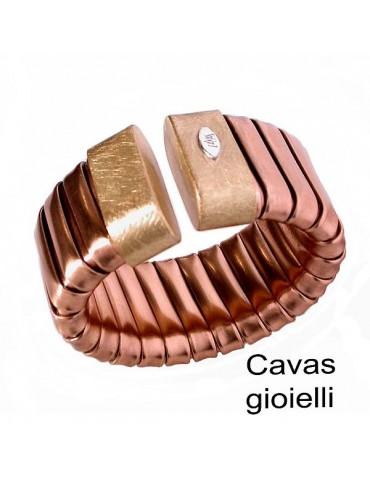 Grandi bracciali  realizzati in bronzo maglia tubo gas