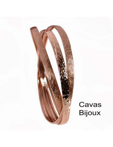 3 braccialetti a cerchio in bronzo