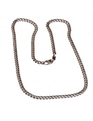 """Collar de plata en el hombre modelo de la cadena """"gourmette"""""""
