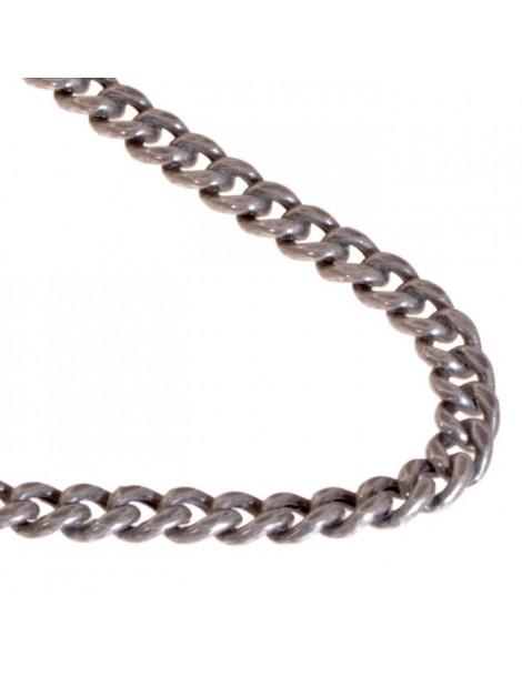 """Girocollo uomo in argento modello catena """"grumetta"""""""