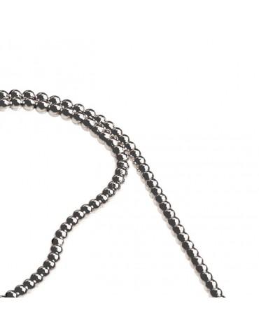 Collana argento 925, modello a sfera