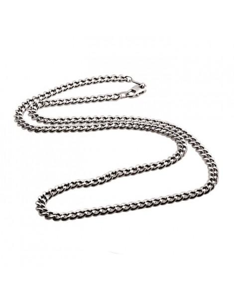 collana a grumetta lucida in argento