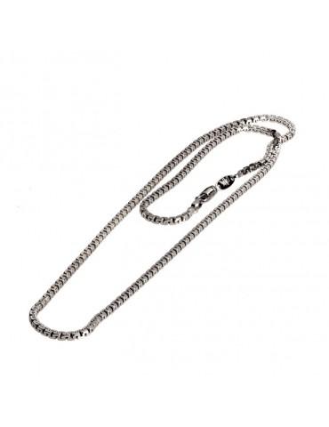 Girocollo uomo in argento con catena california