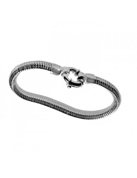 """Morbido bracciale in argento catena doppia tipo """"snake"""""""