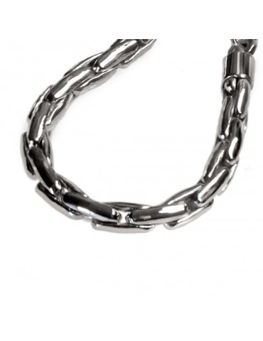 Bracciale argento a maglie incrociate