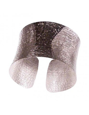 The silver slave bracelet, open cuff and satin