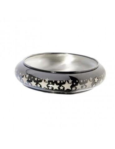 Schiava in argento placcato rutenio nero