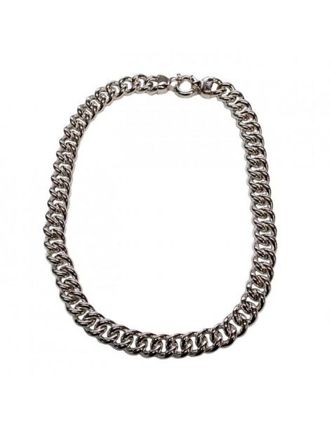 Collana grumetta in argento vuoto