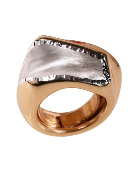 Big ring in 925 sterling silver gold plated
