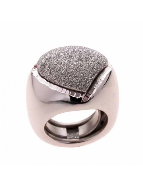 Anello argento e smalto glitter