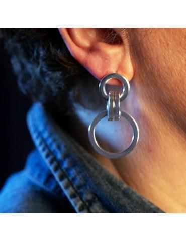 orecchini a cerchi vuoti in argento orecchini a cerchi vuoti in argento