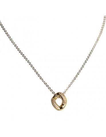 Girocollo argento con pavè di zirconi