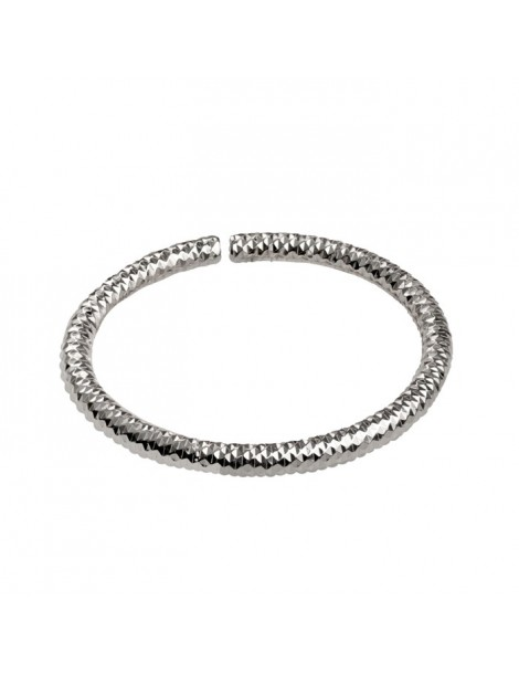 Bracciale flessibile in argento a forma ovale