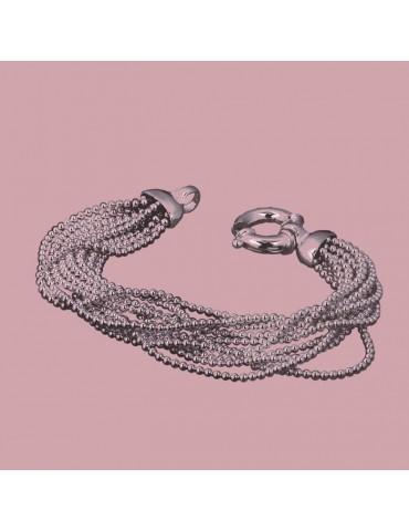 Bracciale donna argento a palline multifilo