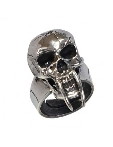 Anello teschio in argento...