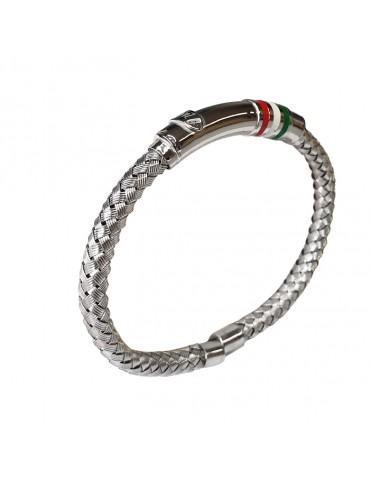 Bracciale con tricolore in argento