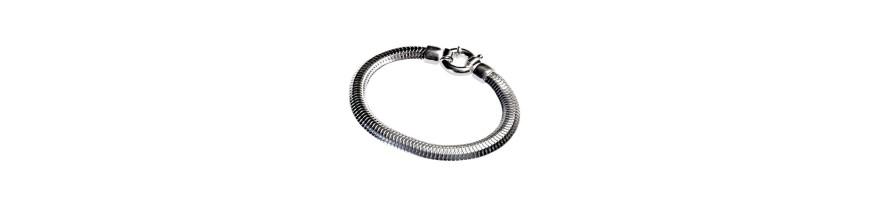 Bracelets en argent, bracelets exclusifs de la mode dans différentes formes et tailles avec de l'artisanat