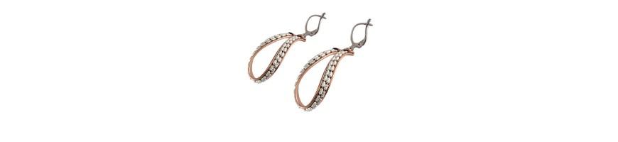 Frau Ohrringe Silber Ohrringe von innovativen und attraktiven Design, Ohrringe große Bandohr gearbeitete